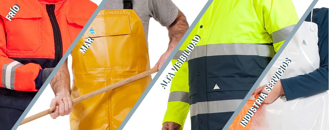 Choiva ropa de trabajo frío mar alta visibilidad e industria y servicios